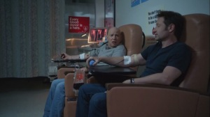 Faith, Hope, Love- Charlie and Hank donate blood