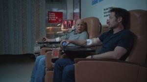 Faith, Hope, Love- Charlie and Hank donate blood