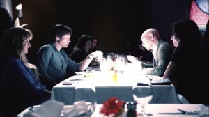 Faith, Hope, Love- Flashback, Hank, Karen, Marcy and Charlie at dinner