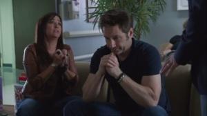 Faith, Hope, Love- Marcy and Hank at hospital when Charlie arrives