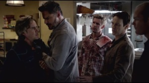 Jesus Gonna Be Here- Sam, Alcide, Jason, Bill and Andy planning after attack