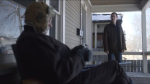 Morton's Fork- Gus finds Lou on his porch with a shotgun