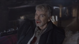 Morton's Fork- Lorne Malvo smiles as he's dying