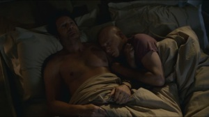 Grace- Hank and Charlie in bed