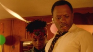 Almost Home- Flashback, Tara's dad, Joe Thornton, played by Malcolm Goodwin, learns about Tara's birthday party