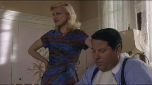 Blackbird- Betty speaks to Chef Philippe, played by Matt Crabtree, while Gene eats