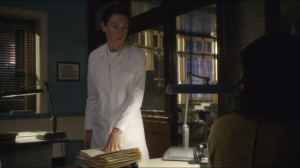 Dirty Jobs- Lillian tells Virginia to mimeograph files that are to be sent to Dr. Papanikolaou's office at Cornell