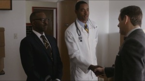 Giants- Bill shown around Buell Green by Dr. Charles Hendricks, played by Courtney B. Vance, and meets Dr. Cyril Franklin, played by Jay Ellis