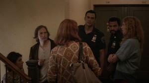 Love Is Strange- Family scene in hallway