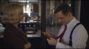 One for the Money, Two for the Show- Libby delivers a red tie to Bill