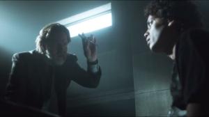 Arkham- Bullock and Gordon interrogate Nicky, played by Flaco Navaja