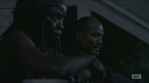 Four Walls and a Roof- Michonne and Gabriel talk about hearing voices