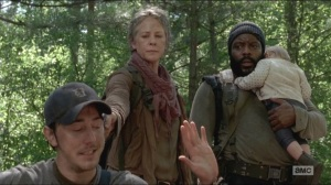 No Sanctuary- Tyreese and Judith find Alex, played by Chris Coy