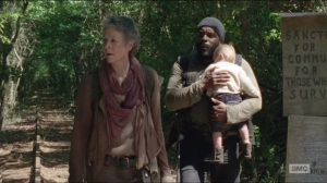No Sanctuary- Tyreese, Carol and Judith find Terminus sign