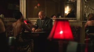 Selina Kyle- Fish gets a visit from Carmine Falcone, played by John Doman