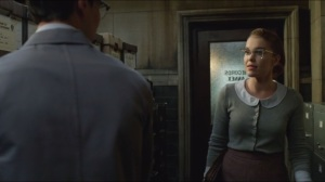 Spirit of the Goat- Nygma heads to records annex, talks with Kristen Kringle, played by Chelsea Spack