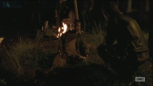 Strangers- A man's gotta eat, The Hunters feast on Bob's leg