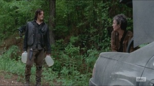 Strangers- Daryl and Carol find abandoned car