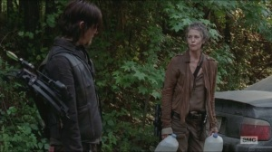 Strangers- Daryl throws water to Carol