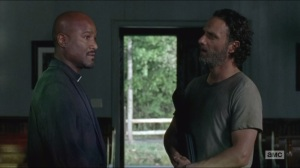 Strangers- Gabriel tells Rick how he survived for so long