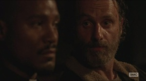 Strangers- Rick knows that Gabriel is hiding something