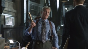 The Balloonman- Lieutenant Bill Cranston, played by James Colby, shows O'Brien to Gordon