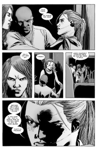 The Walking Dead #132- Andrea promises retaliation if harmed by Magna's group