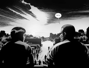 The Walking Dead #132- Rick and Maggie watch the sunset
