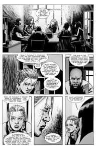 The Walking Dead #133- Andrea speaks with Magna's crew