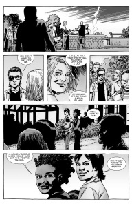 The Walking Dead #133- Carl and Sophia about to get dinner