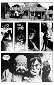 The Walking Dead #133- Carl begins his apprenticeship