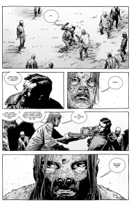 The Walking Dead #133- Dante questioned by the human walkers