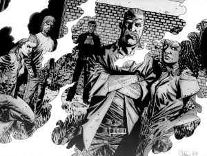 The Walking Dead #66- Andrea, Rick, Abraham, Michonne and Gabriel after disposing of The Hunters