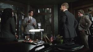 Viper- Nygma explains Viper to Bullock, Gordon and Captain Essen