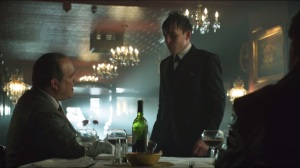 Viper- Oswald tells Maroni about a janitor he knows at Falcone's casino
