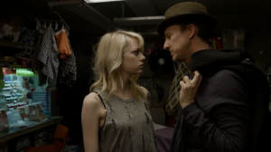 Birdman- Mike hits on Sam, played by Emma Stone