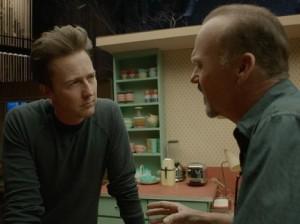 Birdman- Riggan meets Mike Shiner, played by Edward Norton