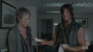 Consumed- Daryl and Carol eat chips