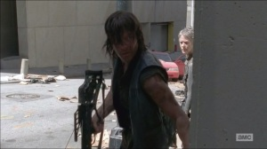 Consumed- Daryl and Carol sneak past walkers into parking garage