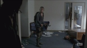 Consumed- Noah pinned under bookshelf, Daryl refuses to help him