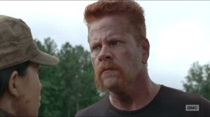 Crossed- Abraham stares down Rosita