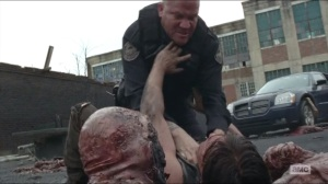 Crossed- Daryl and officer fight