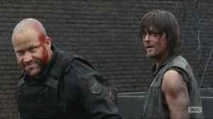 Crossed- Daryl wants the third cop alive as a hostage