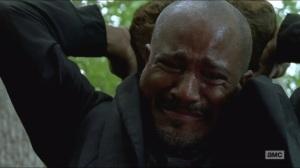 Crossed- Gabriel can't bring himself to kill a walker