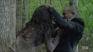 Crossed- Gabriel fends off a walker