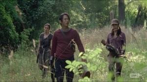 Crossed- Glenn, Tara and Rosita go looking for water