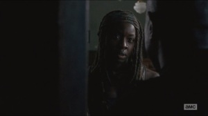 Crossed- Michonne checks on Gabriel