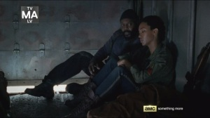 Crossed- Tyreese tries to get Sasha to open up about Bob