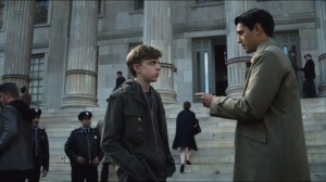 Harvey Dent- Assistant District Attorney Harvey Dent, played by Nicholas D'Agosto, offers kid a second chance