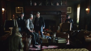 Lovecraft- Officers at Wayne Manor after assassination attempt